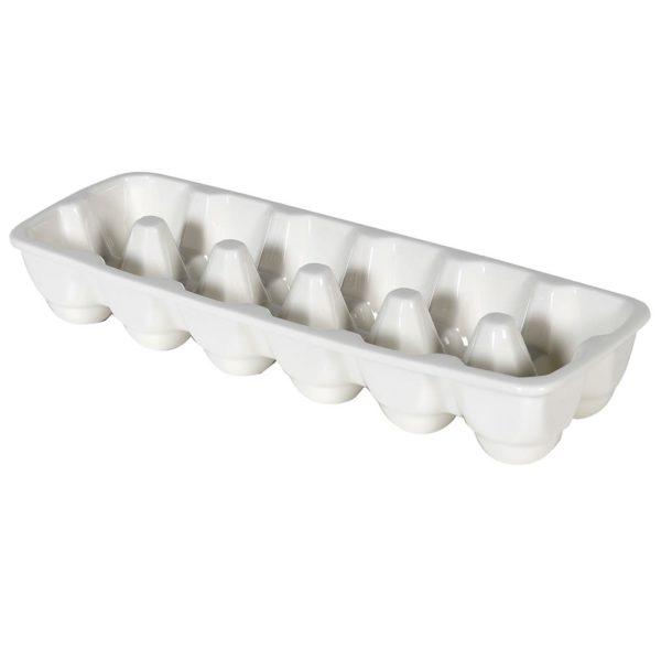 White Ceramic Egg Holder