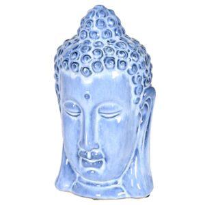 Ceramic Blue Buddha Head
