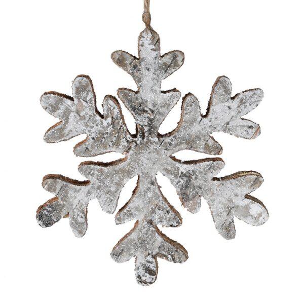 Wooden Snowflake Decoration