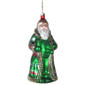 Green Glass Father Christmas